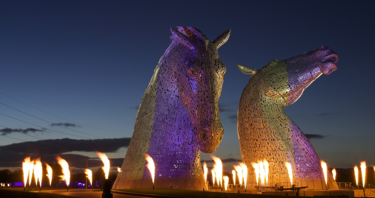 Kelpies Sculptures Scotland