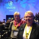 Pat Blain and Linda Arthur attending Scottish Tourism Alliance conference 2019