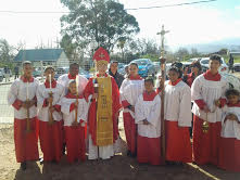 Servers with Bishop Margaret 1