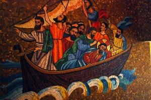 Apostles in boat