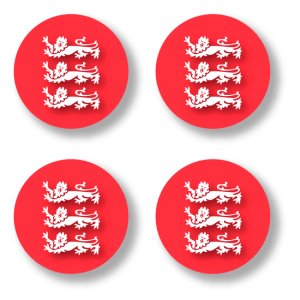 Button badge 4 pack - 3 Lions