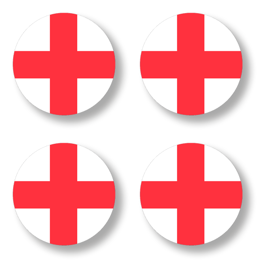 Button badge 4 pack - St. George cross