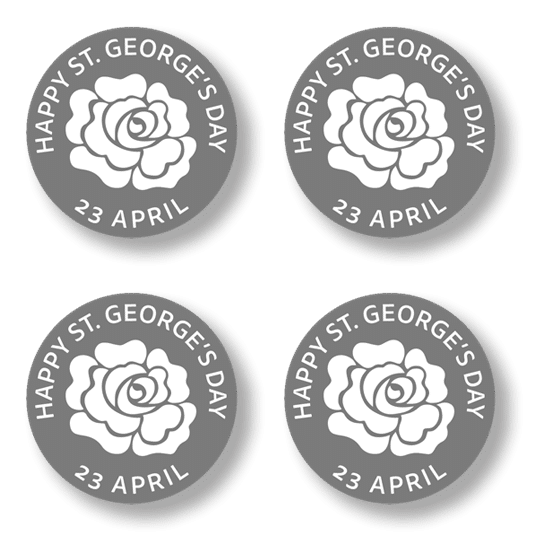 Button badge 4 pack - White Rose