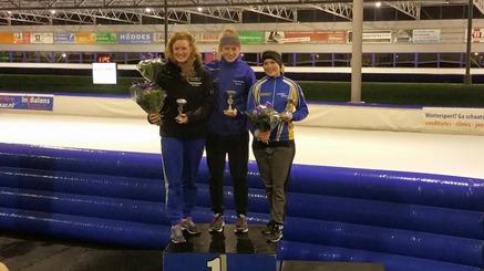 Jolanda Meijer, 3e bij Gewestelijke kampioenschap Allround