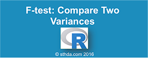 F-Test in R: Compare Two Sample Variances