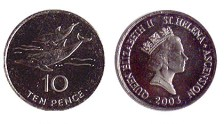 St Helena 10 Pence coin