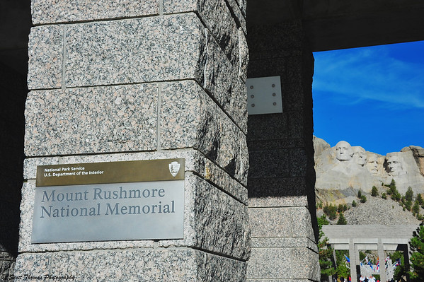 Entrance to the Mount Rushmore National Monument near Keystone, South Dakota.