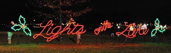 Lights on the Lake holiday drive thru held each year at the Onondaga Lake Park near Liverpool, New York.