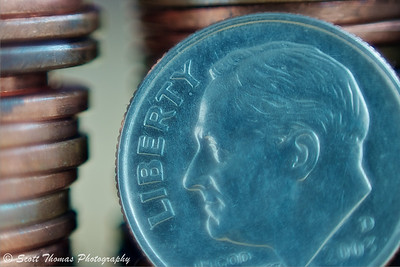 Reverse Lens Macro of an American coin. Click for a larger image.