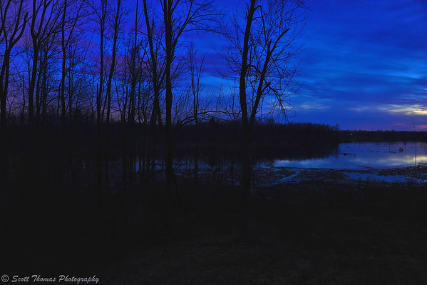 Cloudy Blue Hour.