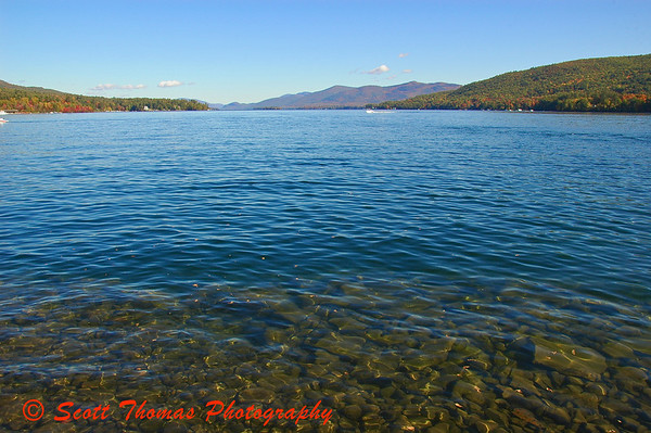 The water in Lake George is considered some of the cleanest in the world.