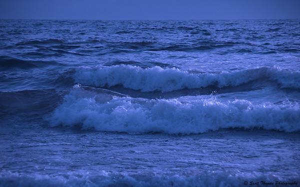 Monochrome waves on the eastern shore of Lake Ontario near Pulaski, New York.