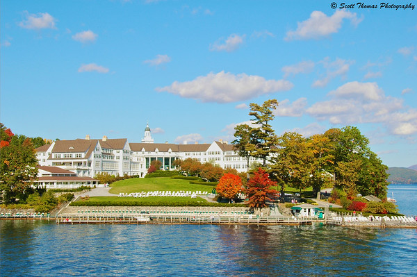 The famous Sagamore Inn on Lake George in upstate New York.