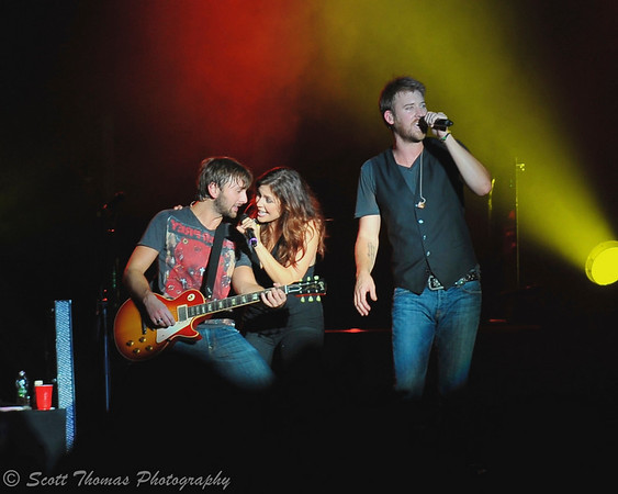 Lady Antebellum performing on stage at the New York State Fair on Wednesday, September 1, 2010.