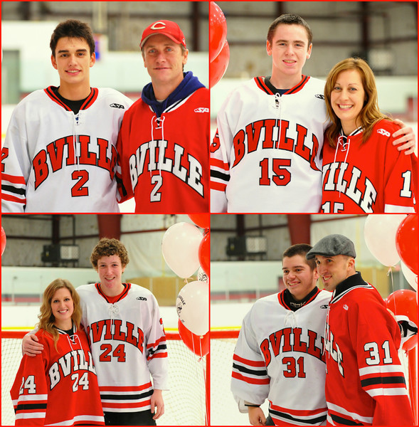 A few of the Player/Teacher photographs from the Baldwinsville Bees Boys Hockey Team's Teacher Appreciation Night.
