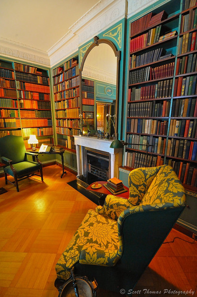 The Library in the George Eastman House in Rochester, New York.