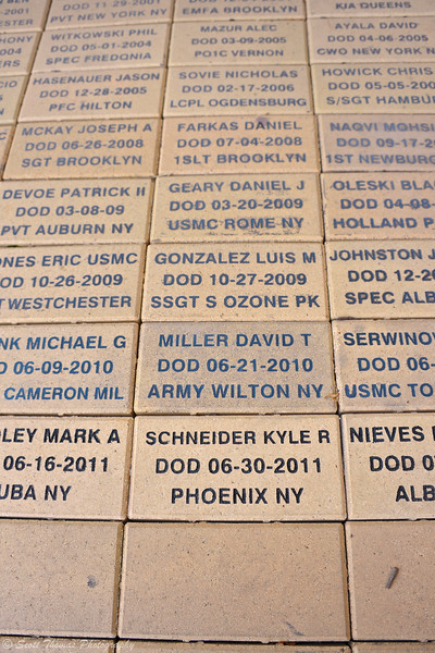 The brick of Baldwinsville resident, Kyle R. Schneider, at the Veterans Memorial in front of the Horticulture building at The Great New York State Fair in Syracuse, New York.