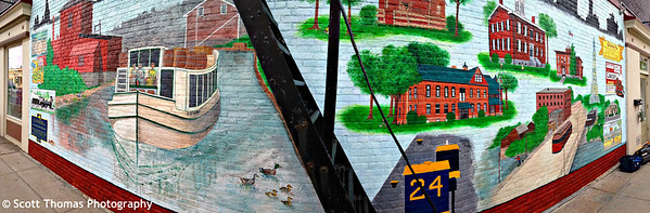 4 Corners Mural in Baldwinsville, New York.