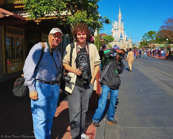 Photographers Bob Desmond, Matt from Australia and Scott Smith on Main Street USA in the Magic Kingdom.