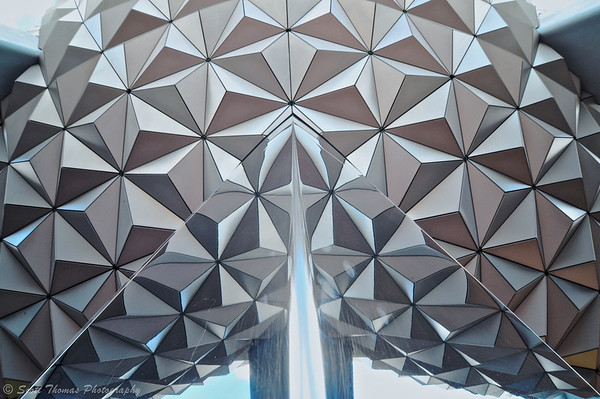 Spaceship Earth in Epcot's Future World at Walt Disney World.