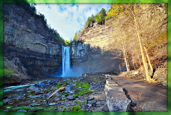 Springtime at Taughannock Falls State Park near Ithaca, New York.