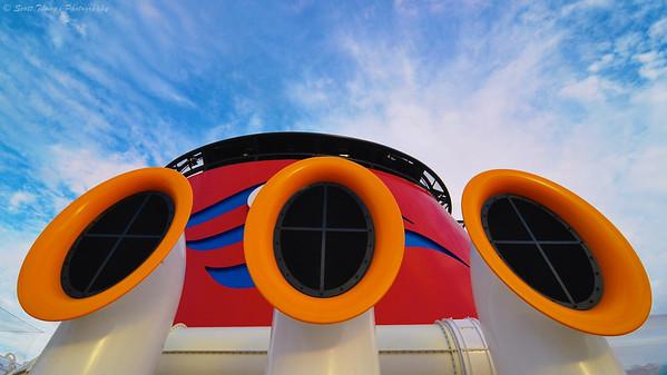 Wide angle fun on the Disney Dream cruise ship.