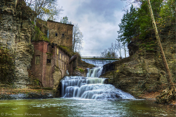 Wells Falls on Six Mile Creek in Ithaca, New York.