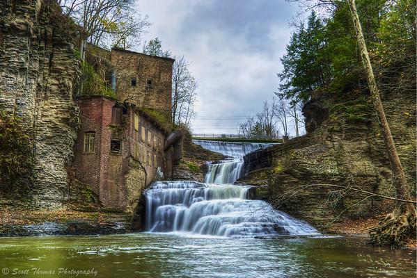 Wells Falls in Ithaca, New York.