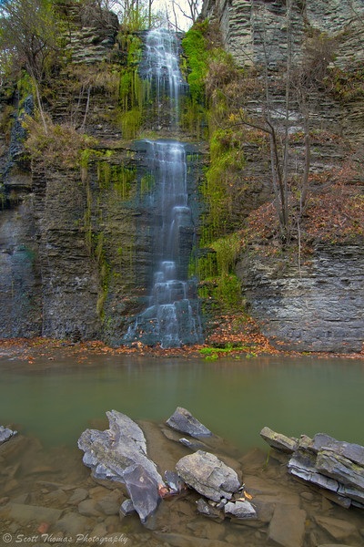 Un-named waterfall along Six Mile Creek in Ithaca, New York.