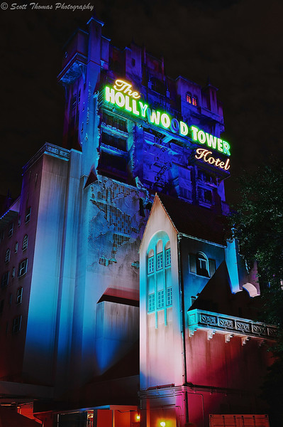 The Twilight Zone Tower of Terror in Disney's Hollywood Studios, Walt Disney World, Orlando, Florida