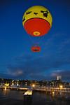 Characters in Flight balloon ride at Downtown Disney, Walt Disney World, Orlando, Florida.