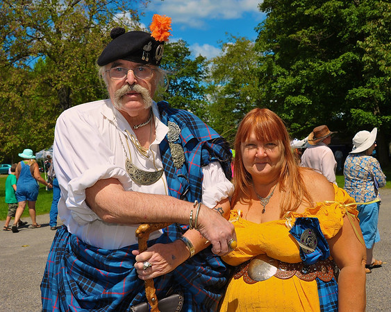 Members of Scottish Clan MacKay attending the Cortland Celtic Festival at Dwyer Memorial Park in Little York, New York.