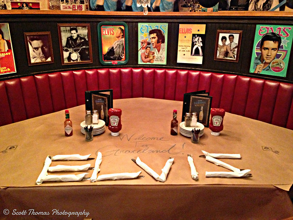 The Elvis Booth at Jack Astor's Bar & Grill in Ancaster,  Ontario, Canada near Hamilton.