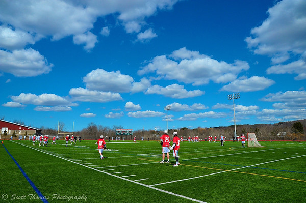 Baldwinsville Bees Boys Lacrosse team visited the Marcellus Mustangs on a picture perfect Spring day on Saturday, March 30, 2013.