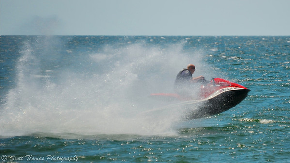 Personal watercraft like this jet ski is a fun way to enjoy Lake Ontario on a hot day.