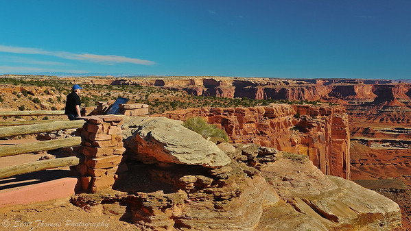 Buck Canyon Overlook in Canyonlands National Park near Moab, Utah.