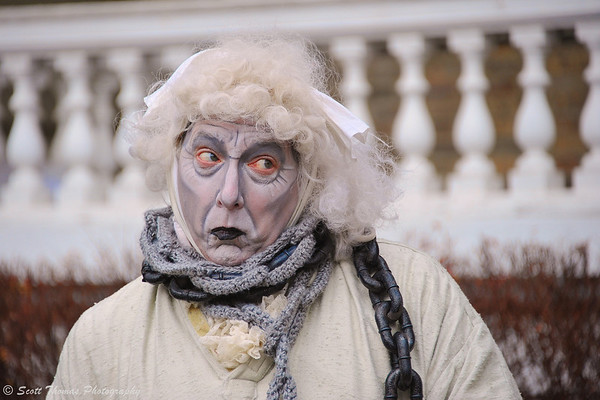 Ghost of Jacob Marley at a Dickens Christmas in Skaneateles, New York.