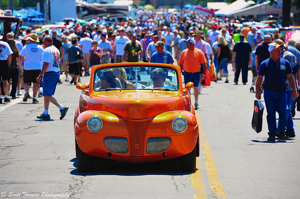 It was hot and crowded at the Syracuse Nationals car show last weekend.  Almost as hot as some of the colors used on the cars.