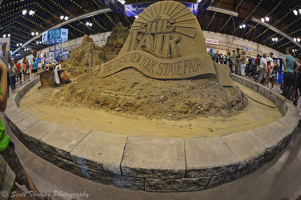 Sand sculpture inside the Center of Progress building at the Great New York State Fair in Syracuse, New York.