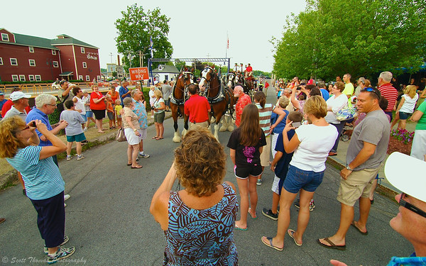The Clydesdales brought out many fans during their visit to Baldwinsville, New York.