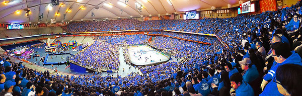 An artist's rendering of how the Carrier Dome will look on Nov. 22, when the Crunch hosts the Utica Comets. (Image courtesy of the Syracuse Crunch)