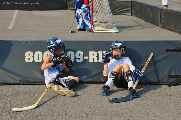 Crunch Bunch Kid's Club street hockey game at Alliance Bank Stadium in Syracuse, New York.