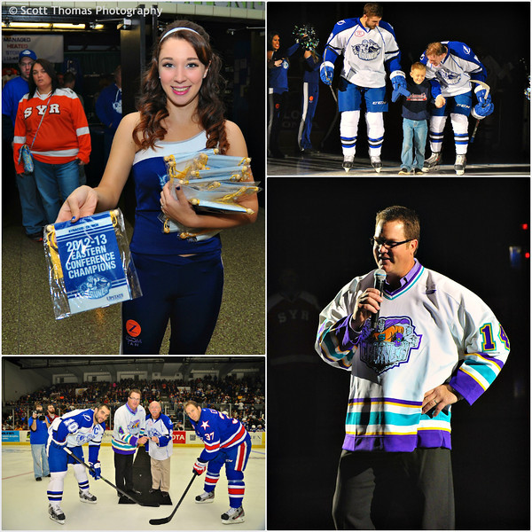 Syracuse Crunch Opening Night Ceremonies for the 2013-2014 Season on Saturday, October 12, 2013 in the OnCenter War Memorial in Syracuse, New York. The 20th in Syracuse Crunch history.