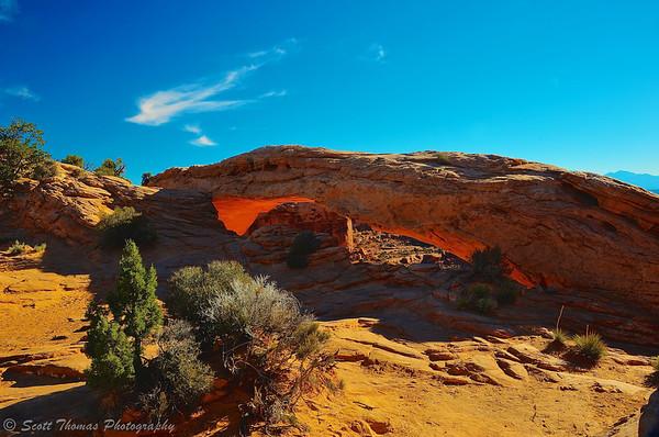 Mesa Arch in Canyonlands National Park near Moab, Utah.