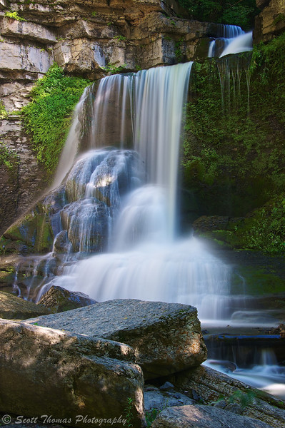 Cowsheds Falls in Fillmore Glen State Park near Moravia, New York.