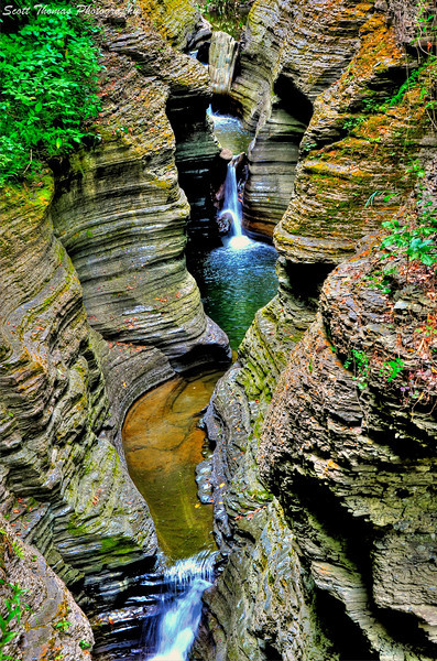 View from the Gorge Trail in Watkins Glen State Park, Watkins Glen, New York.