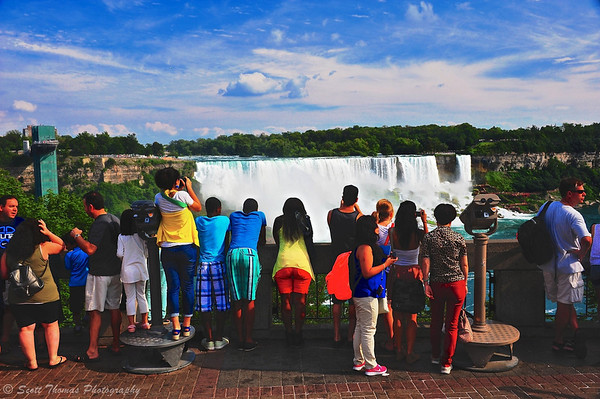 People come from all over the world to experience the American and Horseshoe Falls at Niagara Falls in Ontario, Canada.