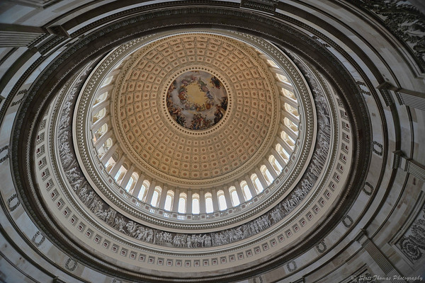 Ceiling above the US Capitol Rotunda in Washington, DC.