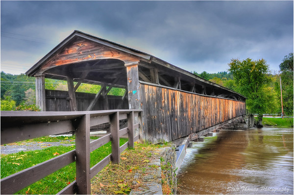 Perrine's Bridge in Ulster County, New York on October 1, 2011.