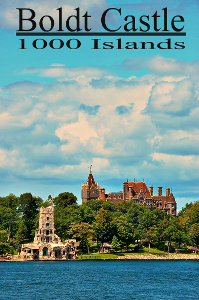 Boldt Castle in the 1000 Islands on the St. Lawrence River across from Alexandria Bay, New York.